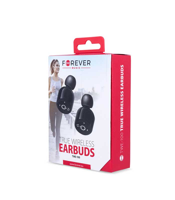 Forever TWE-100 Bluetooth Earbuds Ακουστικά - Μαύρο