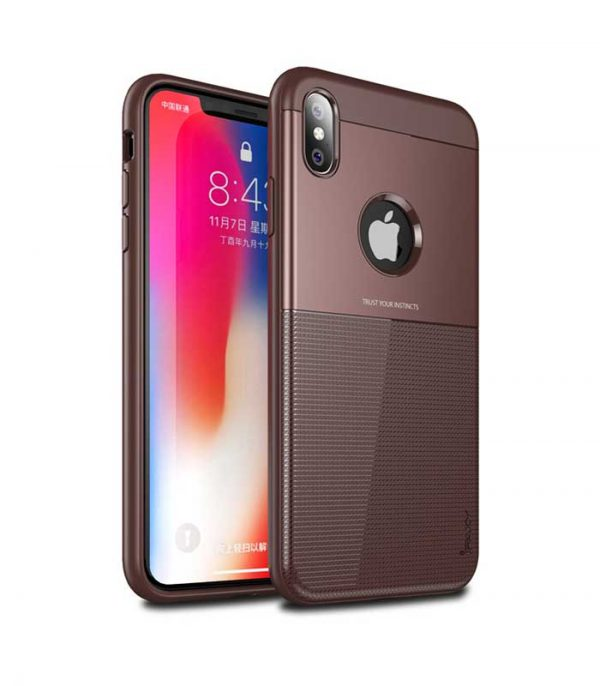 iPaky Shield case cover για iPhone XS / X - Καφέ