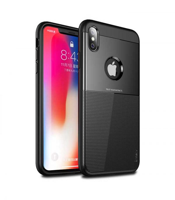 iPaky Shield case cover για iPhone XS / X - Μαύρο