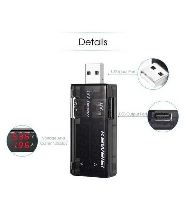 KEWEISI Συσκευή ελέγχου θύρας USB KWS-10VA, 2x USB Output, 3-9V