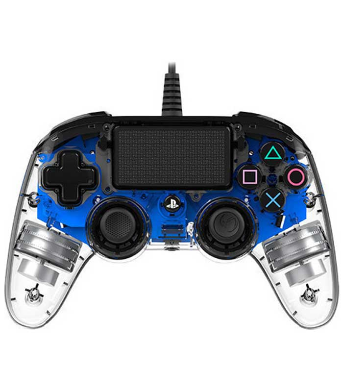 Nacon Wired Compact Controller Crystal (PS4) - Μπλε