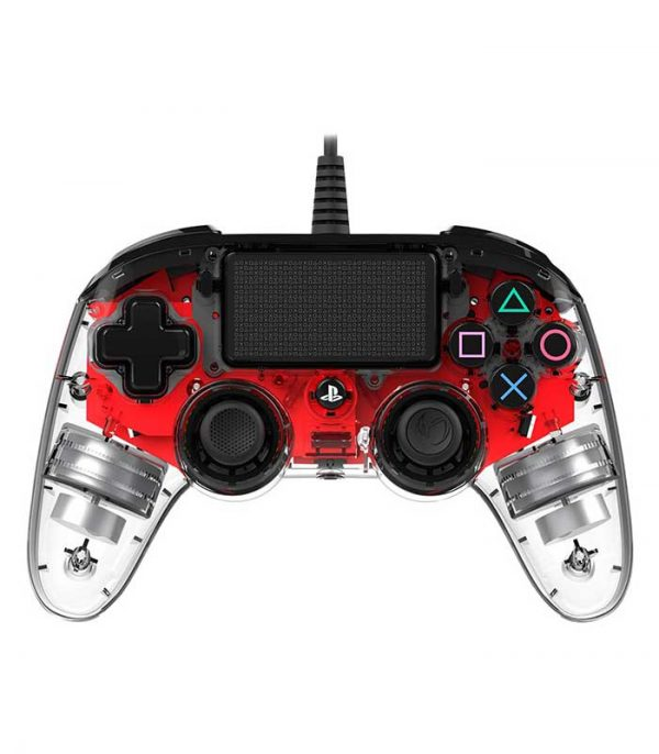 Nacon Wired Compact Controller Crystal (PS4) - Κόκκινο