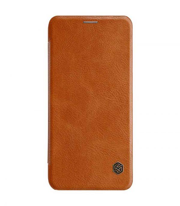 Nillkin Qin Leather Book Case για το Samsung Galaxy A6 Plus 2018 - Καφέ