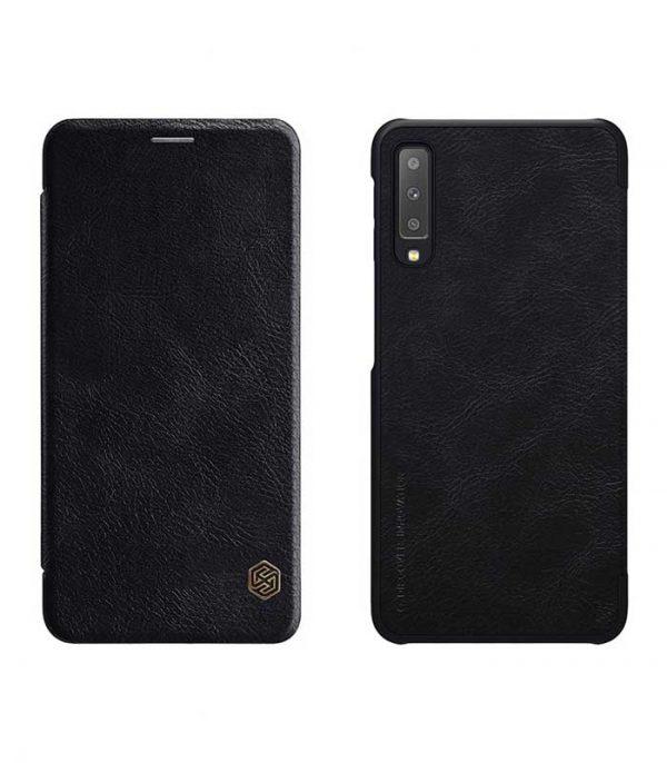 Nillkin Qin Leather Book Case για το Samsung Galaxy A7 2018 - Μαύρο