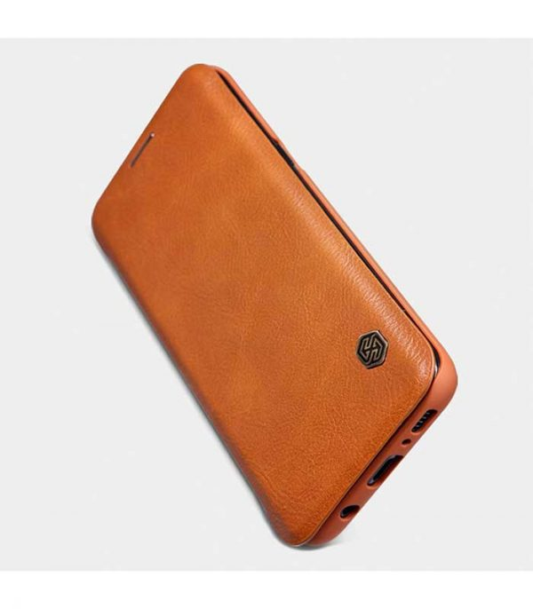 Nillkin Qin Leather Book Case για το Samsung Galaxy S9 Plus - Καφέ