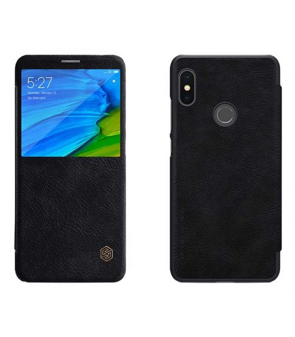 Nillkin Qin Leather Book Case για το Xiaomi Redmi Note 5 - Μαύρο