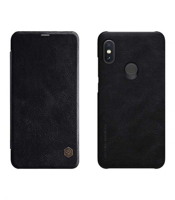Nillkin Qin Leather Book Case για το Xiaomi Redmi Note 6 Pro - Μαύρο