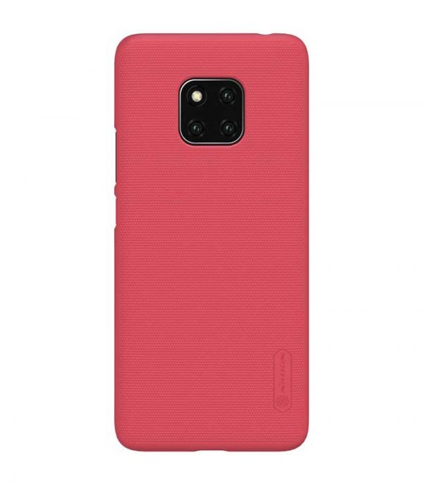Nillkin Super Frosted Shield Case + kickstand για το Huawei Mate 20 Pro - Κόκκινο