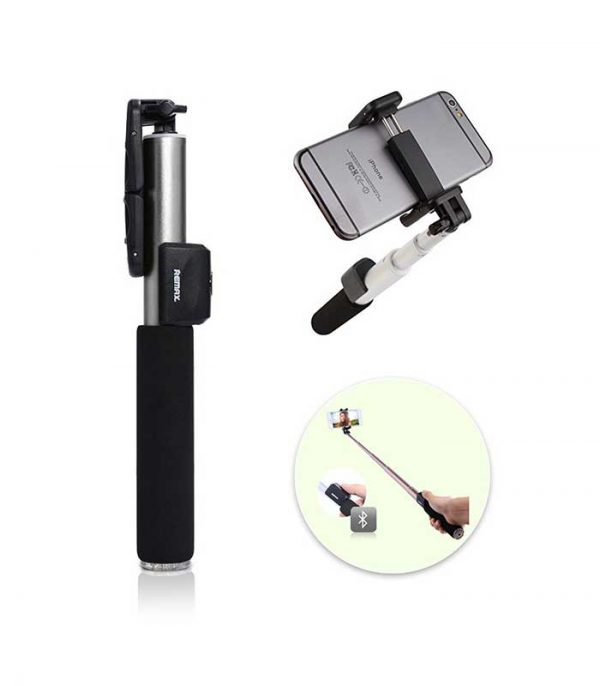 Remax P4 Selfie Stick Monopod with Wireless Bluetooth Shutter - Ασημί