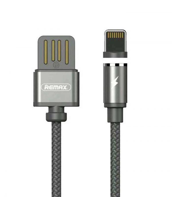 Remax RC-095i Gravity Magnetic USB 2.0 to Lightning 1A (1m) - Μαύρο