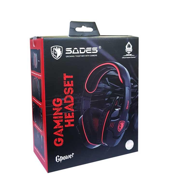 Sades GPower Gaming Headset (Μαύρο/Κόκκινο)