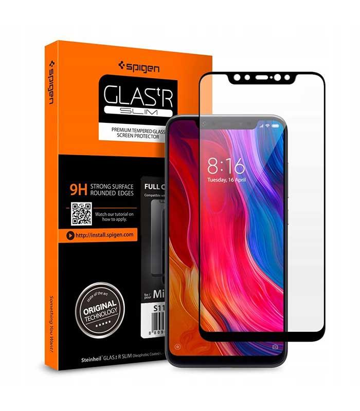 Spigen Tempered Glass 0.3mm 9H 2.5D για Xiaomi Mi 8 - Μαύρο