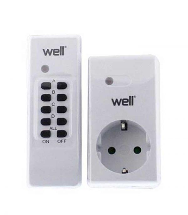 WELL Τηλεχειριζόμενη Πρίζα 1 Control 1 Πρίζα (30011)