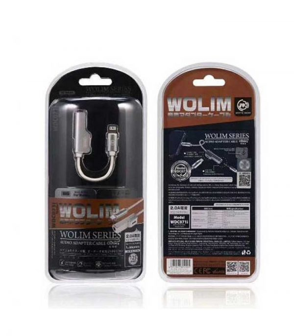WK WDC-071i Adaptor Lightning male - 3.5mm / Lightning female