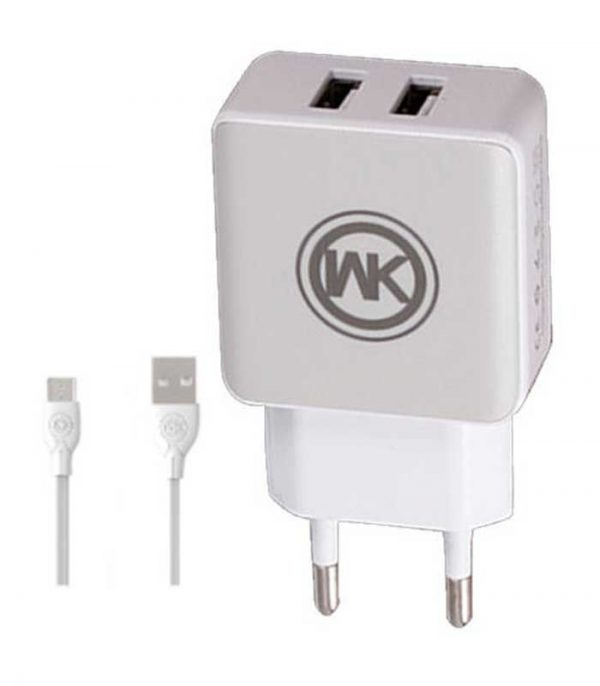 WK WP-U11 Combo+ micro USB Cable & Wall Adapter - Λευκό