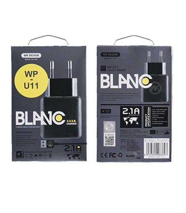 WK WP-U11 Combo+ micro USB Cable & Wall Adapter - Λευκό