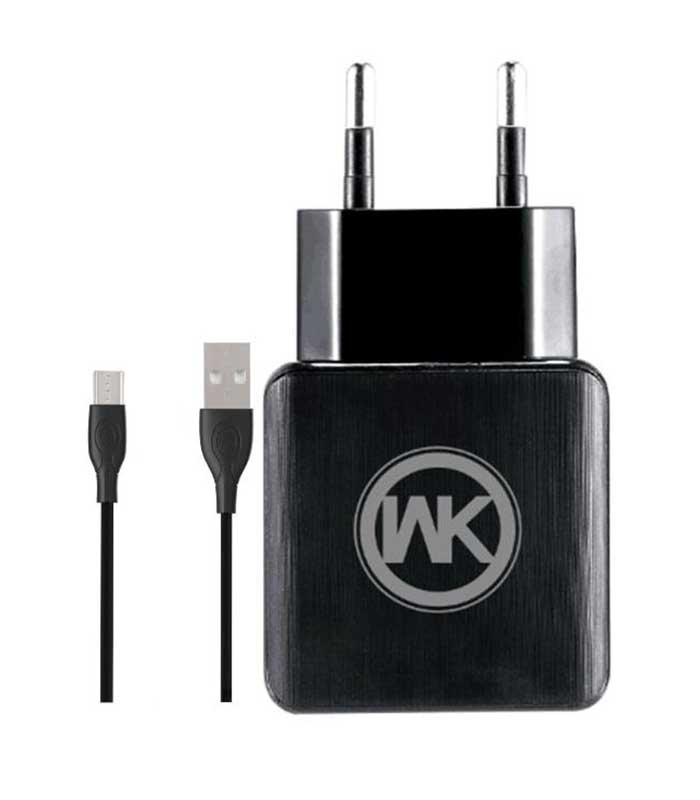 WK WP-U11 Combo+ micro USB Cable & Wall Adapter - Μαύρο