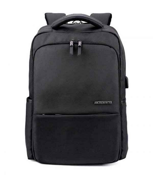 ARCTIC HUNTER τσάντα πλάτης B00069-BK, laptop, USB, αδιάβροχη - Μαύρο