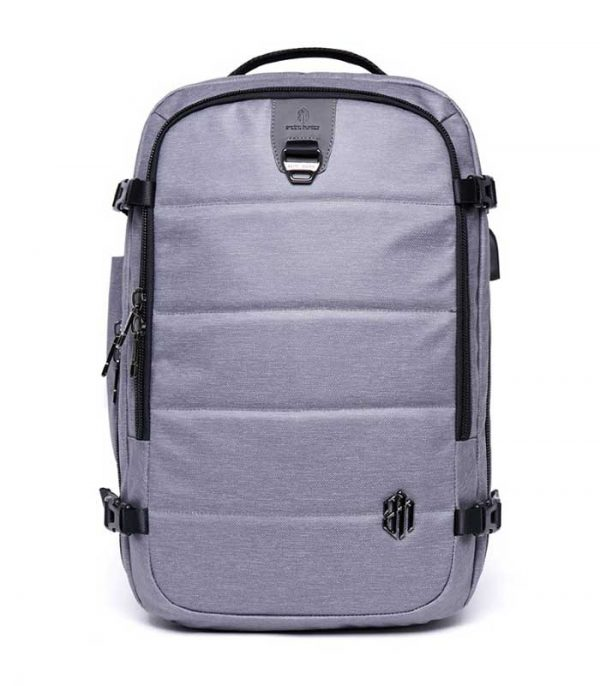 ARCTIC HUNTER τσάντα πλάτης B00260, laptop, USB-3.5mm, αδιάβροχη - Γκρι