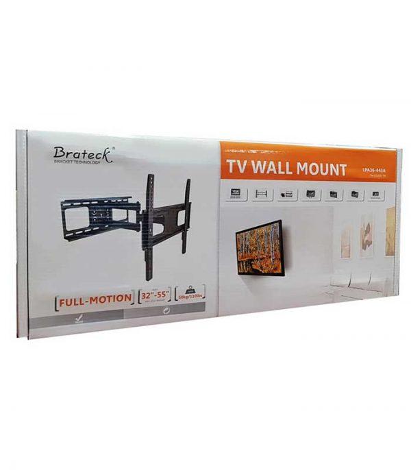 """BRATECK LPA36-443A βάση TV τοίχου με πλήρες κίνηση για 32-55"""", 50kg"""