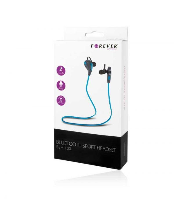 Forever BSH-100 Bluetooth Headset - Μπλε/Μαύρο