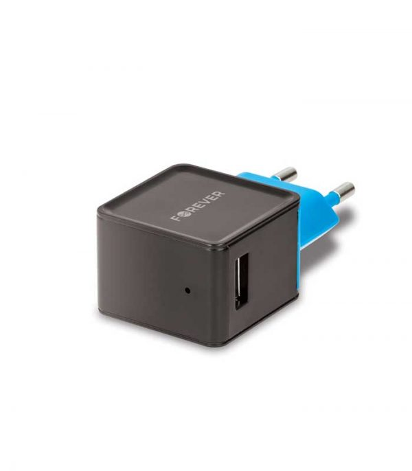 Forever TC-04 1xUSB Wall Charger 2A - Μαύρο