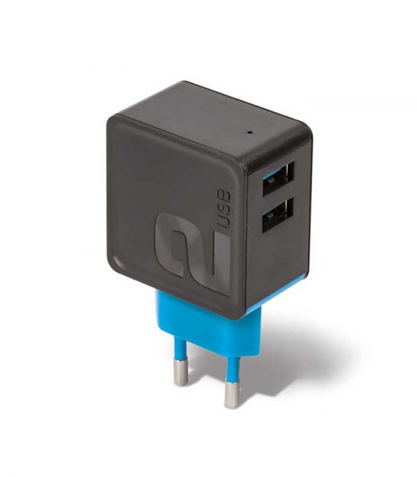 Forever TC-04 2xUSB Wall Charger 3.4A - Μαύρο