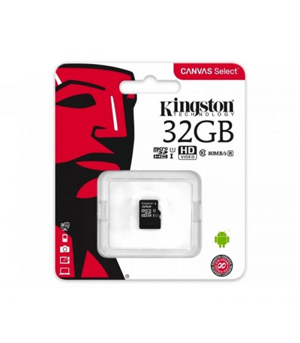 Kingston Memory Card microSDHC 32 GB, UHS-I, class 10