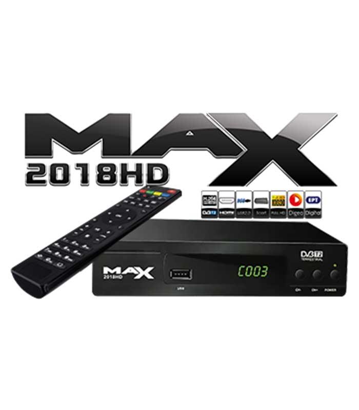 MAX T2018HD DVB-T2 MPEG4 FULL HD Επίγειος Ψηφιακός Αποκωδικοποιητής