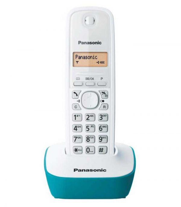 Panasonic KX-TG1611GRC Ασύρματο Τηλέφωνο - Λευκό/Πράσινο