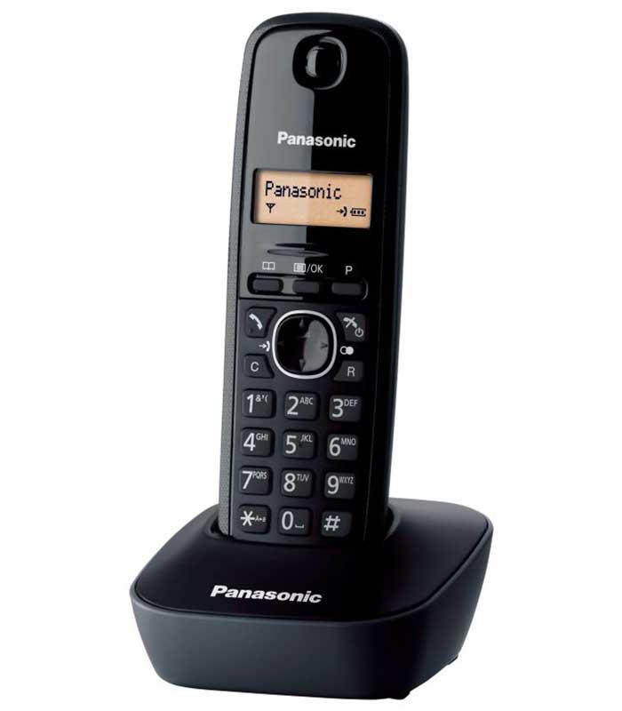 Panasonic KX-TG1611GRH Ασύρματο Τηλέφωνο - Μαύρο