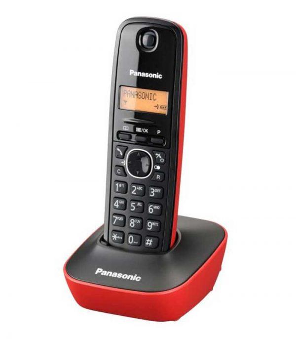 Panasonic KX-TG1611GRR Ασύρματο Τηλέφωνο - Μαύρο/Κόκκινο