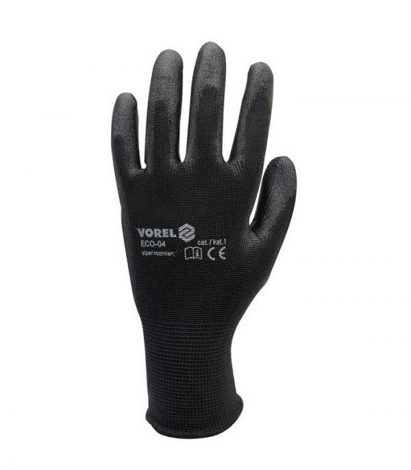 Πολυεστερικά γάντια εργασίας - Μαύρα - VOREL ACC-215
