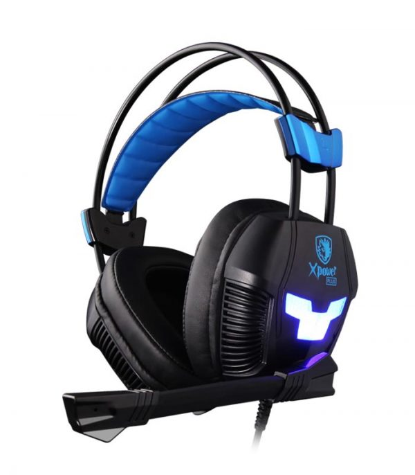 Sades Xpower Plus Gaming Headset, Vibration, USB, 40mm