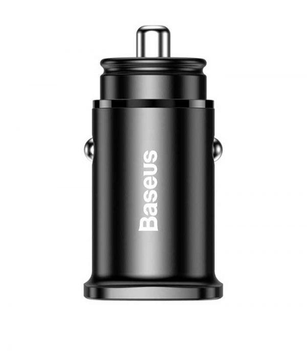 Baseus Square PPS Φορτιστής Αυτοκινήτου USB QC 4.0 - USB Type-C PD 3.0 - Μαύρο