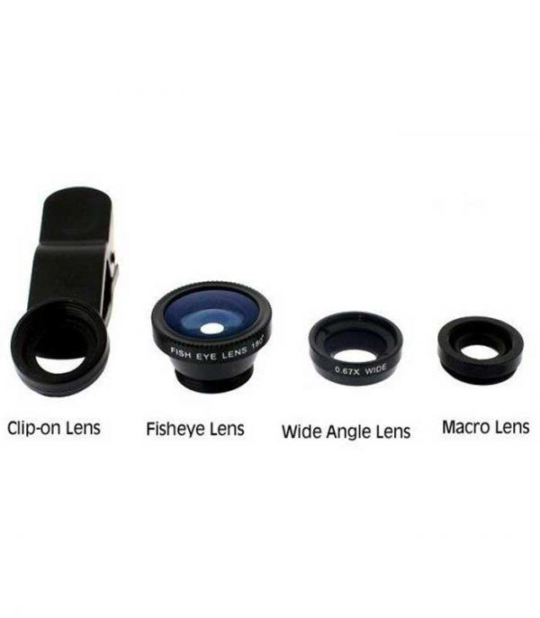 Φακοί για Κάμερα Κινητών - Universal Lens 3 τεμάχια - Fisheye/Wide/Macro