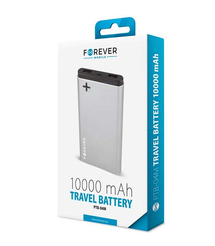 Forever PTB-04M Power Bank 10000mAh - Γκρι