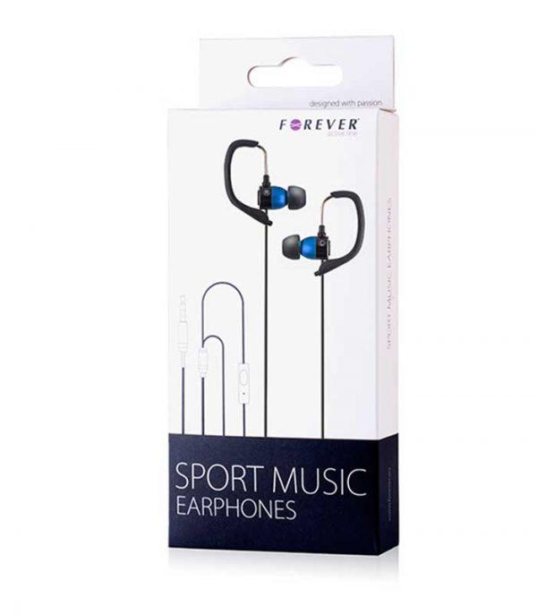 Forever Sport Music Headset - Μπλέ