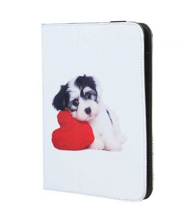 GreenGo Puppy Heart Universal θήκη για tablet 7-8""