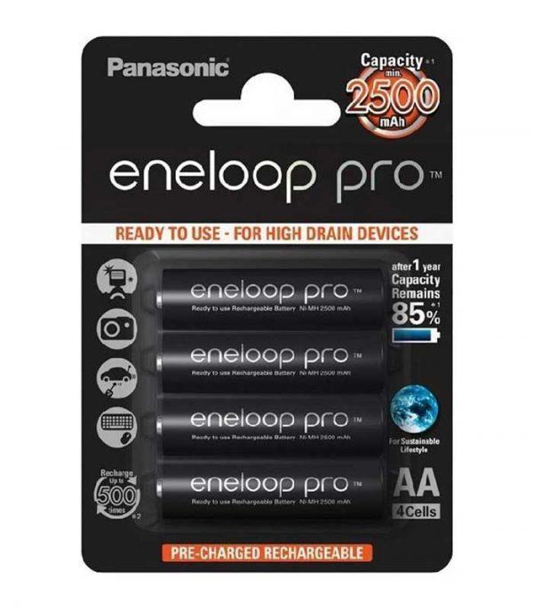 Panasonic Eneloop Pro AA 2500mAh Επαναφορτιζόμενες (4τμχ)