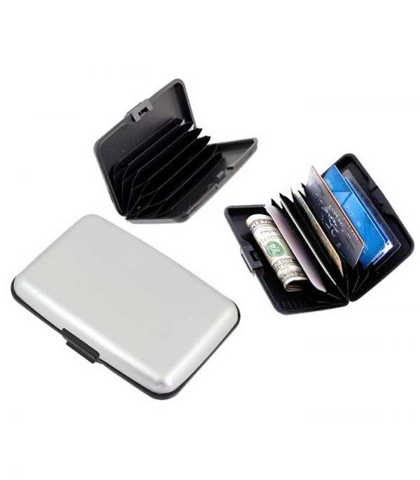Πορτοφόλι προστασίας ανάγνωσης πιστωτικών καρτών BQ31B - Aσημί