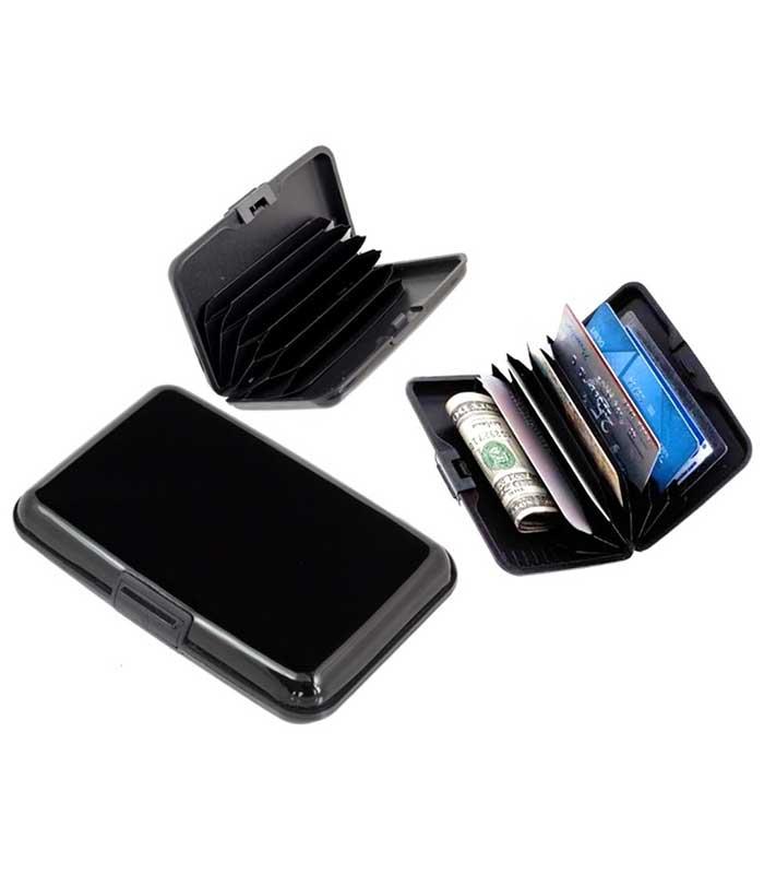 Πορτοφόλι προστασίας ανάγνωσης πιστωτικών καρτών - Μαύρο