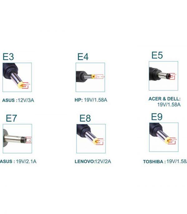 POWERTECH PT-176 αυτόματος φορτιστής laptop - 48W - 6 Tips