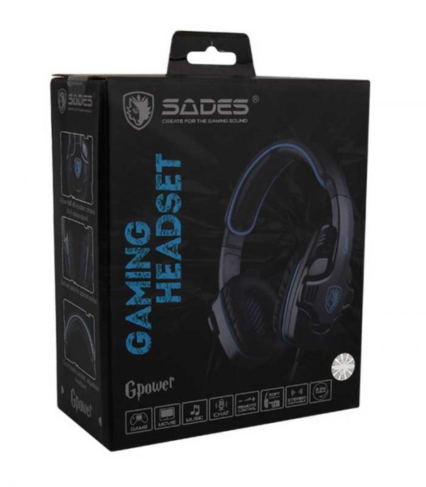 Sades GPower Gaming Headset (Μαύρο/Μπλέ)
