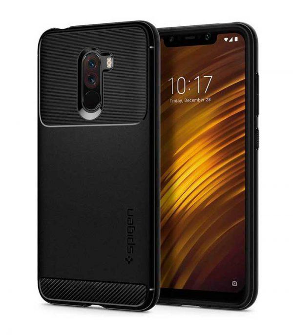 Spigen Rugged Armor θήκη για Xiaomi Pocophone F1 - Μαύρο