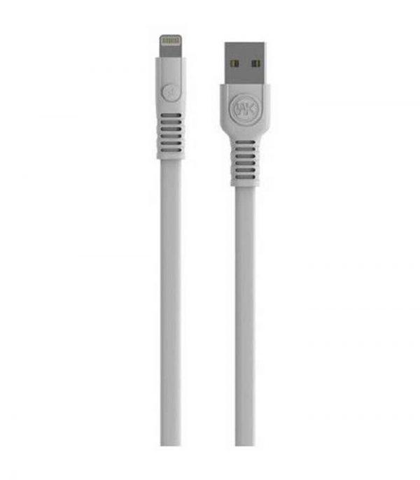WK Καλώδιο Φόρτισης USB σε Lighting QC 3A (2m) - Λευκό