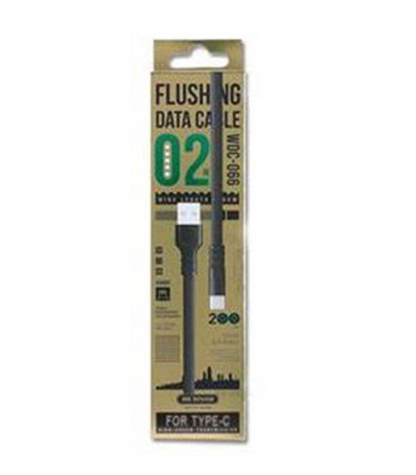 WK Καλώδιο Φόρτισης USB σε USB Type-C (2m) - Λευκό