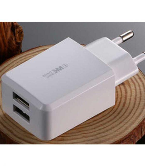 WK Suda 2x USB Charger - Λευκό