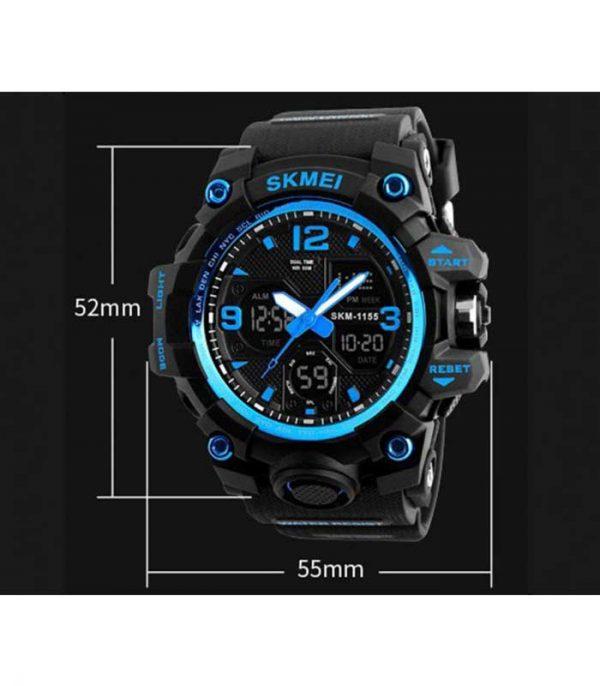Ανδρικό Ρολόι Χειρός SKMEI 1155 με LED - Μπλέ
