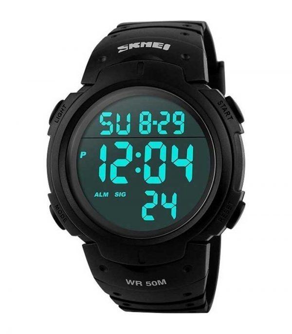 Ανδρικό Αθλητικό Ρολόι Χειρός SKMEI 1068 με LED – Μαύρο